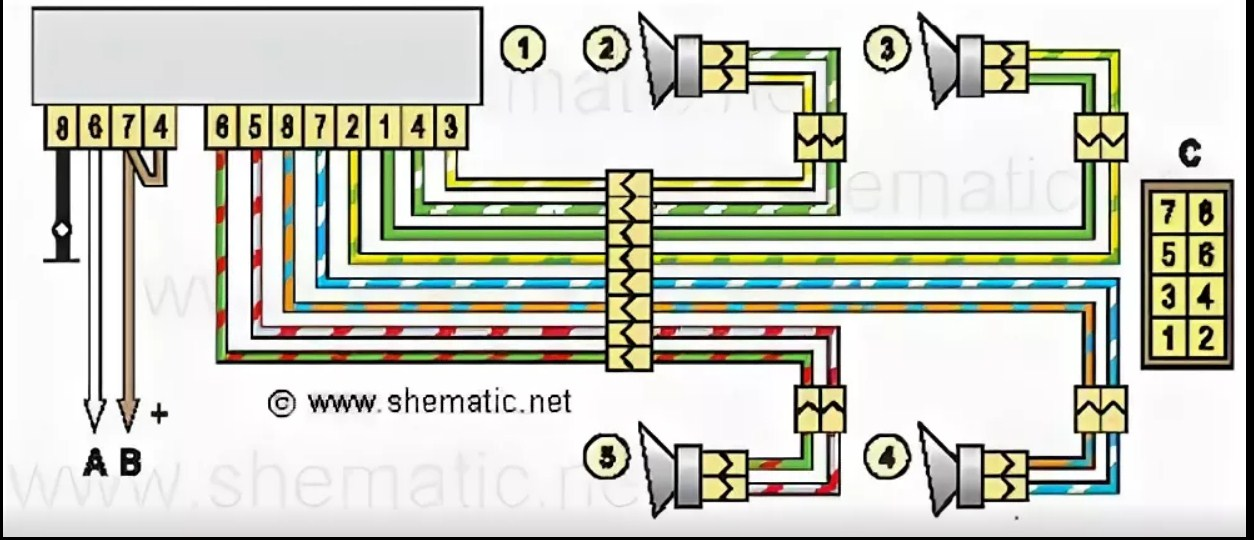 Распиновка проводов разъёма магнитолы Chevrolet Captiva   Chevrolet Niva (ISO разъем) 2