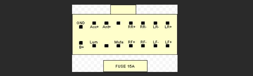 Распиновка разъёма магнитолы JVC KD - x