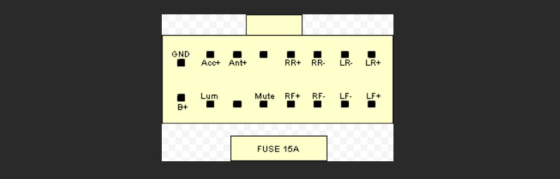 Распиновка разъёма магнитолы JVC - KS cassete 2