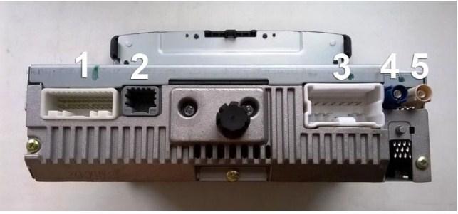 Распиновка стандартного разъёма магнитолы X-ray Media NAV2