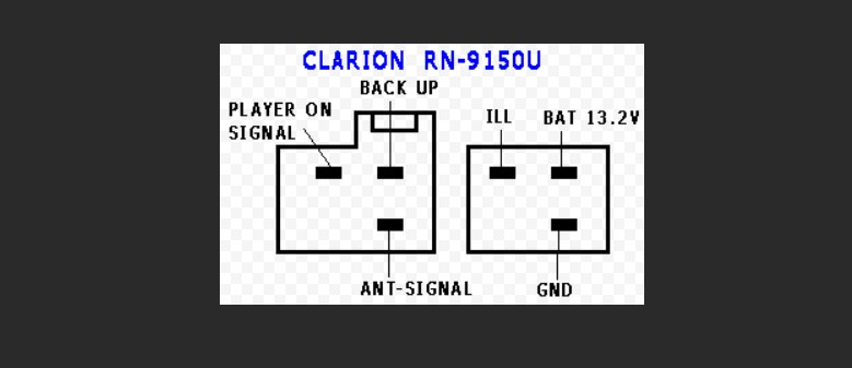 Clarion rn9150u, adx-5355, dpx-5375, db-265mp pinout