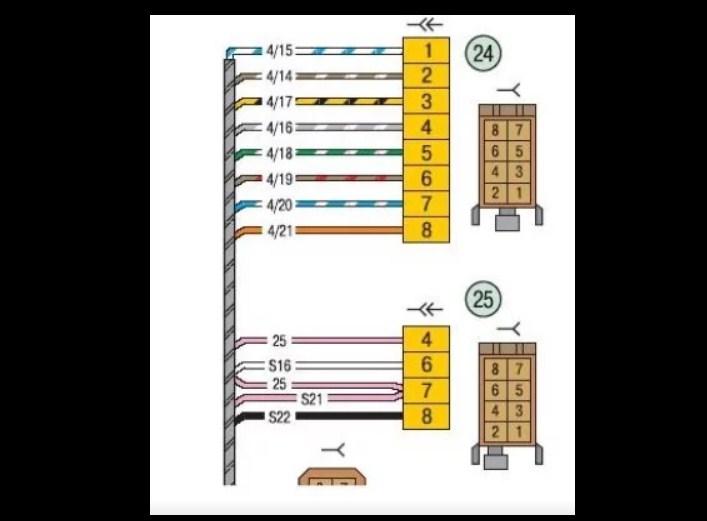 Схема подключения магнитолы для Лада Калина, Приора (и Ларгус) 2