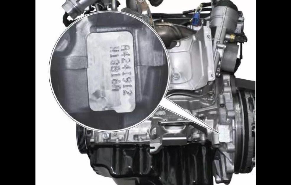 Номер двигателя на BMW F20, F21, F30, F31