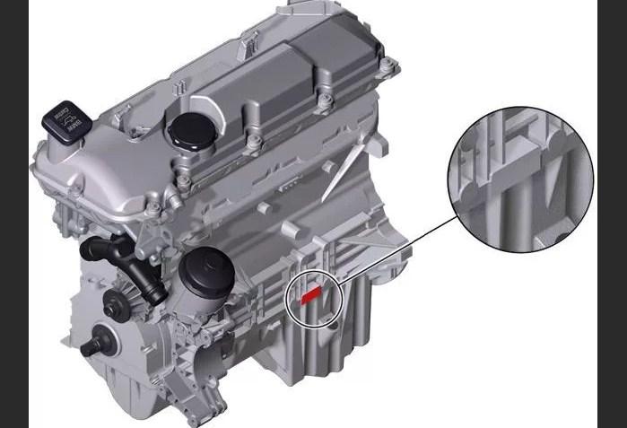 Расположение номера на двигателе BMW m56
