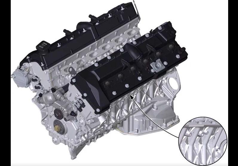 Расположение номера на двигателе BMW n73