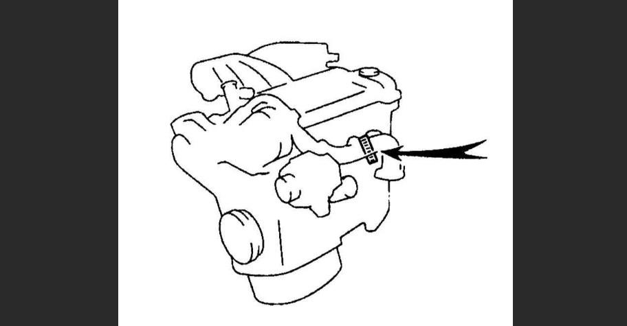 Расположение номеров моторов Lexus RX