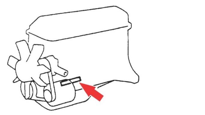 Расположение номера двигателя Toyota 2ZR-FE 1.8 л.