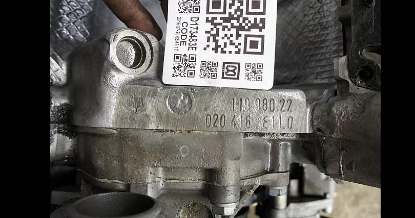 Расположение номера двигателя на w124-m119